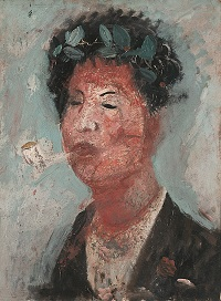 autoritratto con maschera 1926