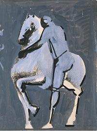 Cavallo e acrobata1946