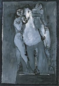Cavaliere e acrobata1949