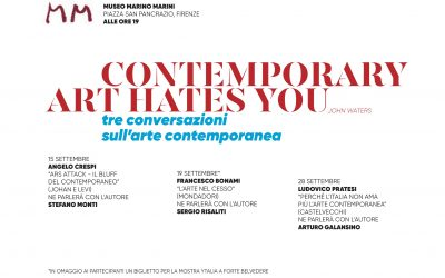 CONTEMPORARY ART HATES YOU. 3 CONVERSATIONS ON CONTEMPORARY ART