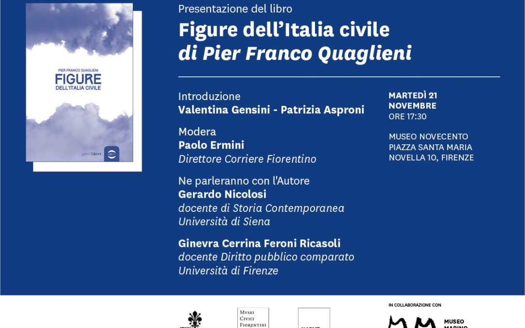 Presentation of Figure dell'Italia civile (Figures of Civilian Italy) by Pier Franco Quaglieni at the Museo Novecento in collaboration with the Museo Marino Marini